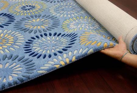 Blossom - Blue For more info Visit us:http://www.therealrugcompany.co.uk/ #Home #InteriorDesign #RealRug #Bitcoin #Blossom