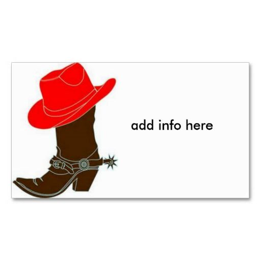 183f0489601 Cowboy Boot w/Red Hat Business Card | Zazzle gifts for everyone (max ...