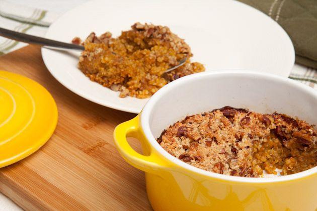 Pumpkin Pie Quinoa Breakfast Bake