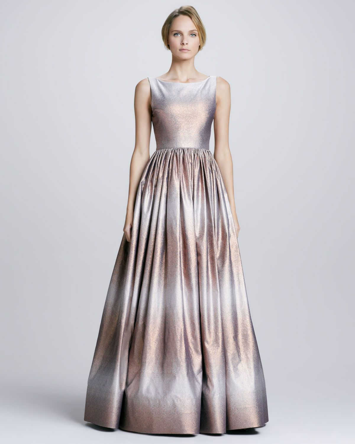 Alice + Olivia Caddie Metallic Ombre Gown - Neiman Marcus | Evening ...