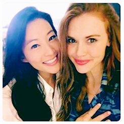Arden Cho and Holland Roden