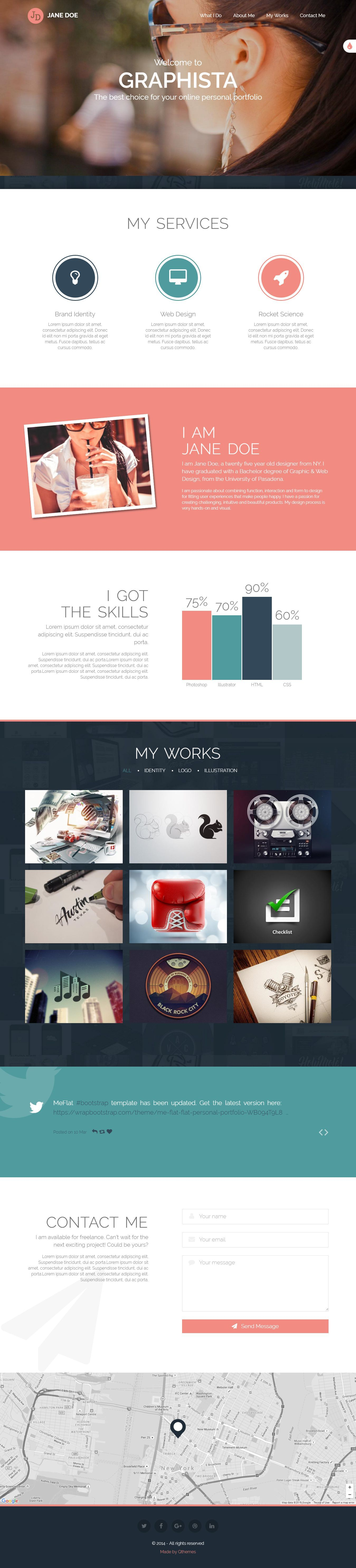 Graphista is a beautiful one-page personal #portfolio template. It ...