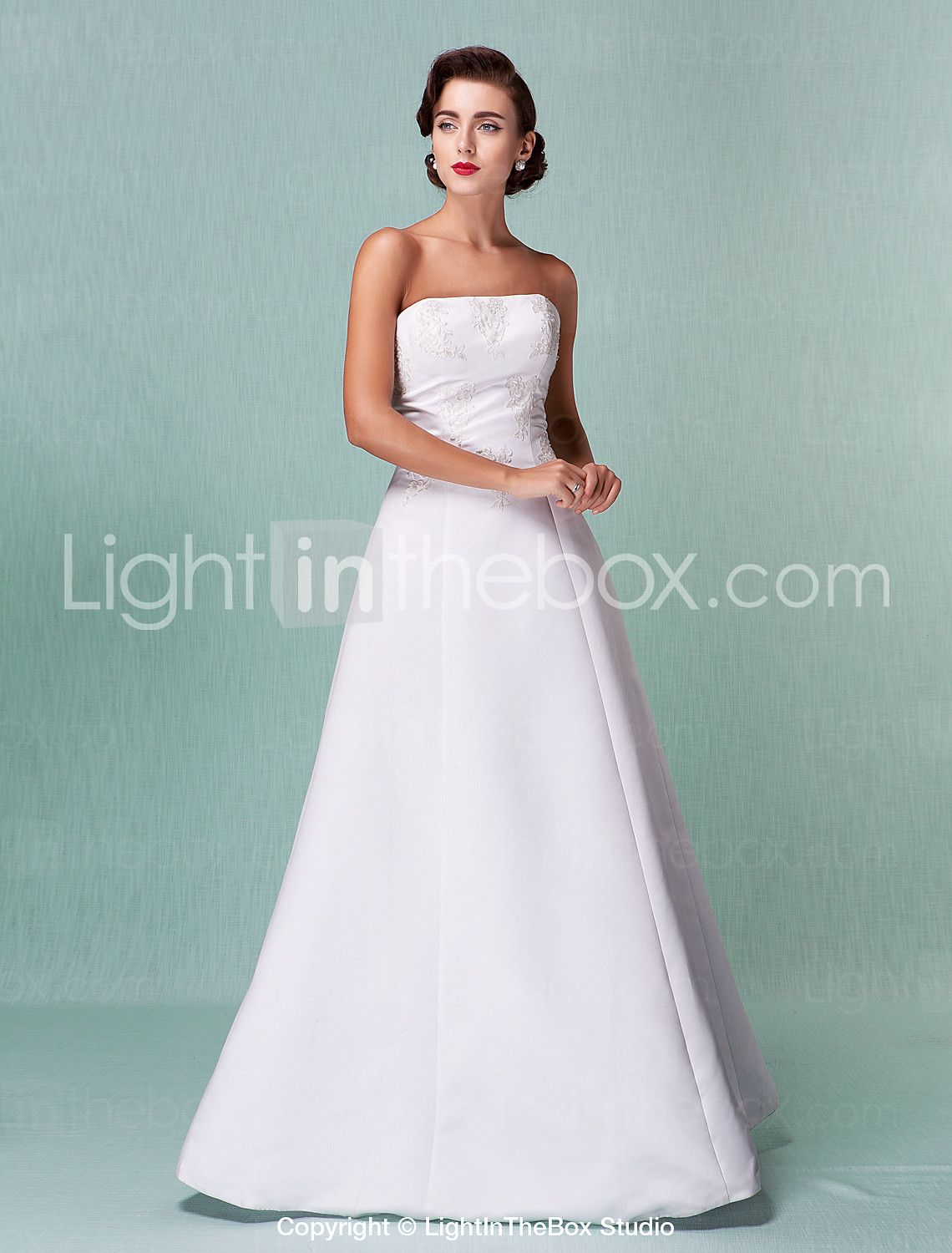 Lanting Bride A-line / Princess Petite / Plus Sizes Wedding Dress ...