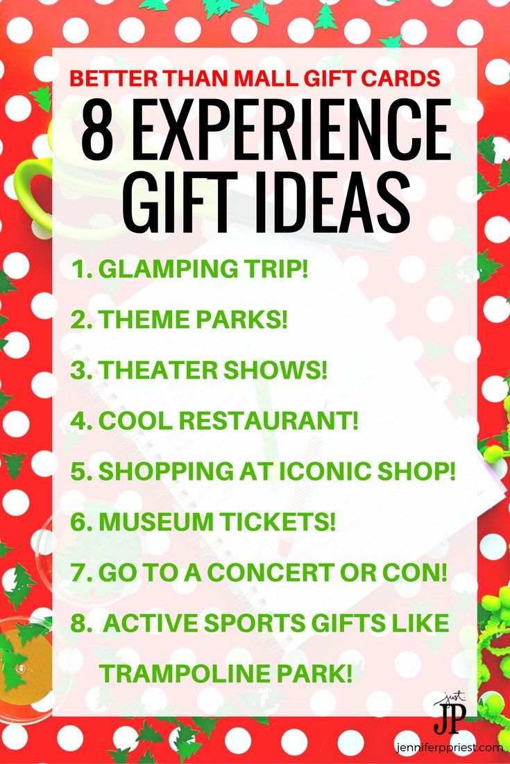 Skip The Gift Cards And Give EXPERIENCE GIFTS Instead 8 Ideas For Adventure Gifts All Ages