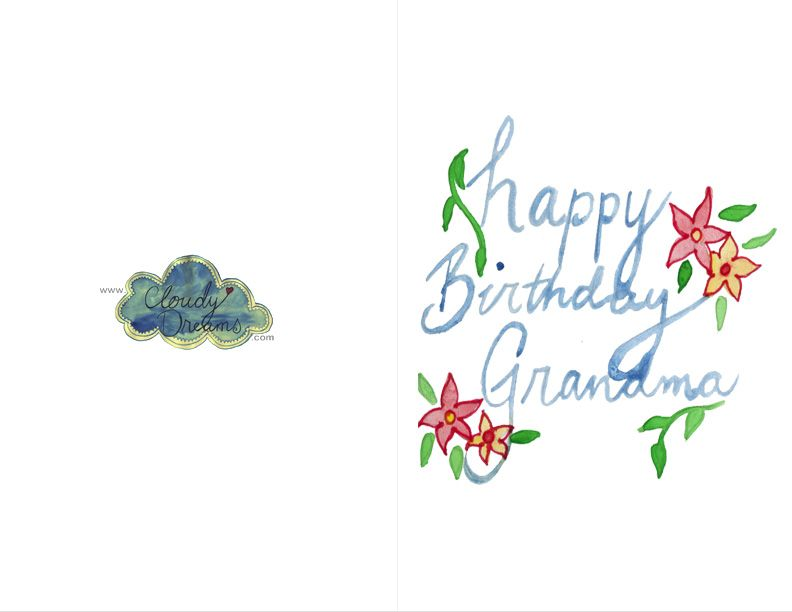 Birthday Cards For Grandma Printable ~ Free printable birthday cards six lovely for grandma and grandpa