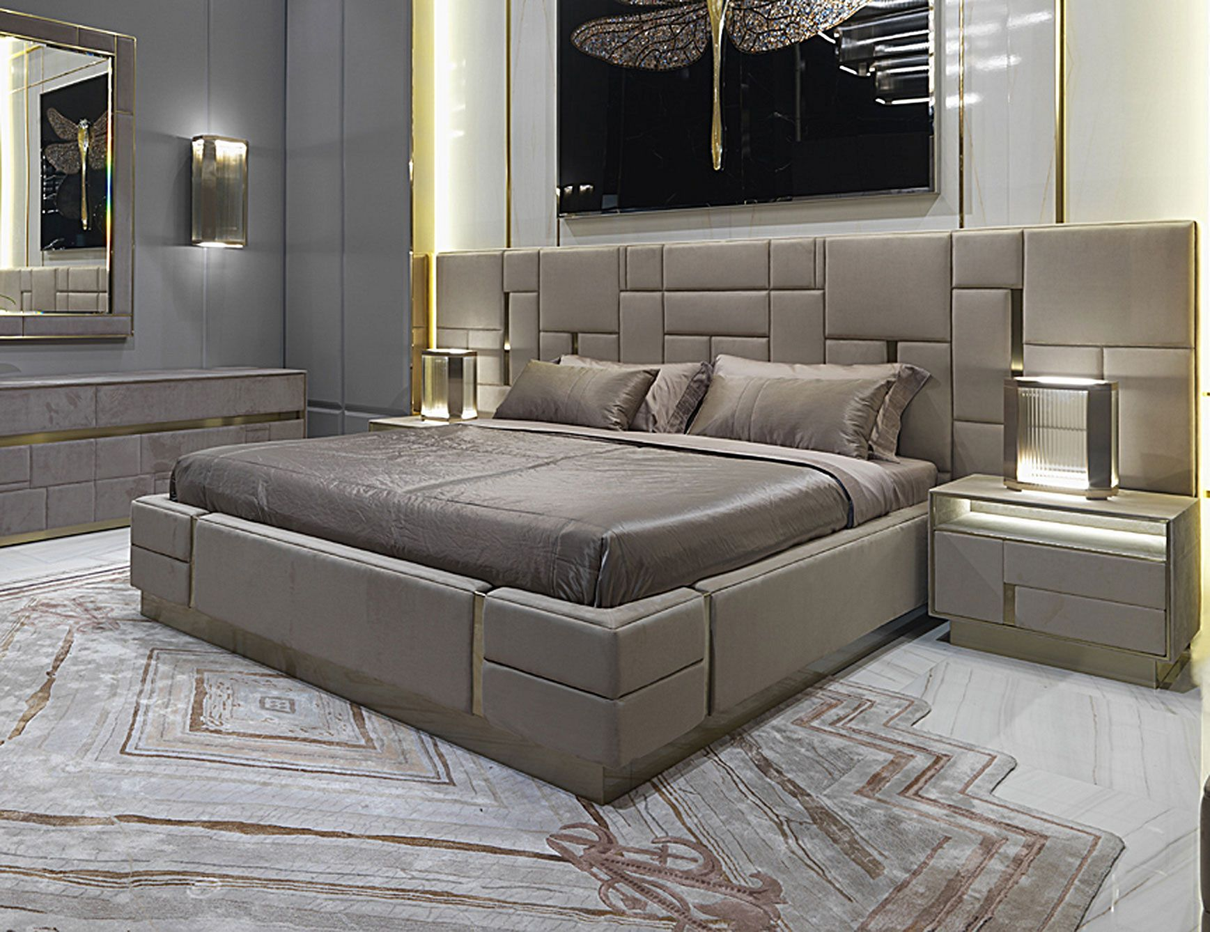 Gorgeous 25 Luxury King Bed Design For Luxurious Bedroom Ideas