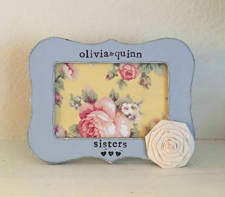 Sisters picture frame. Baby shower gift. Little sister. Big sister ...