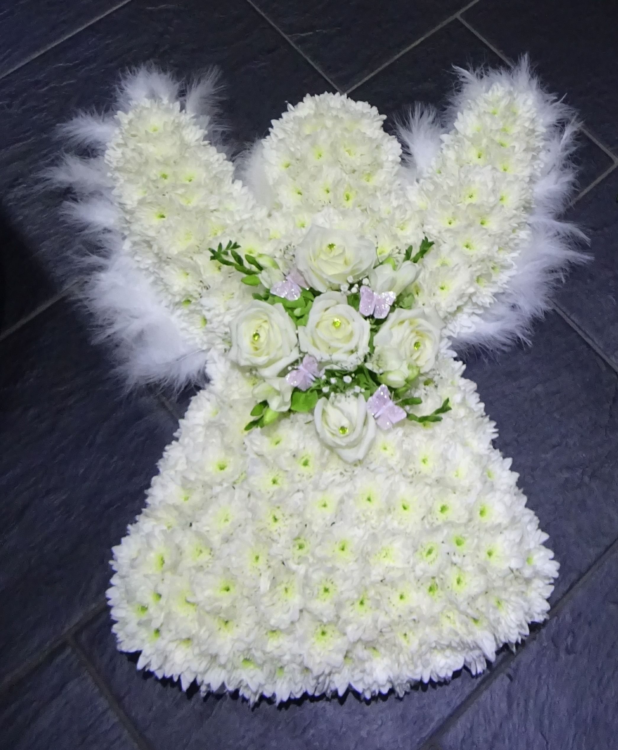 Angel With Feather Wings Funeral Tributes Funeral