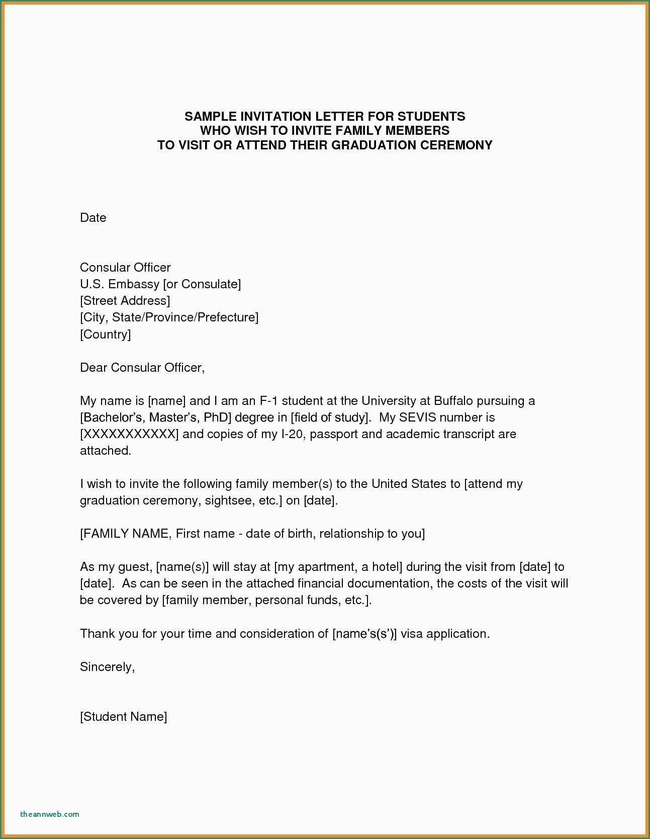 Sample Visa Letter to Usa Valid format Invitation Letter