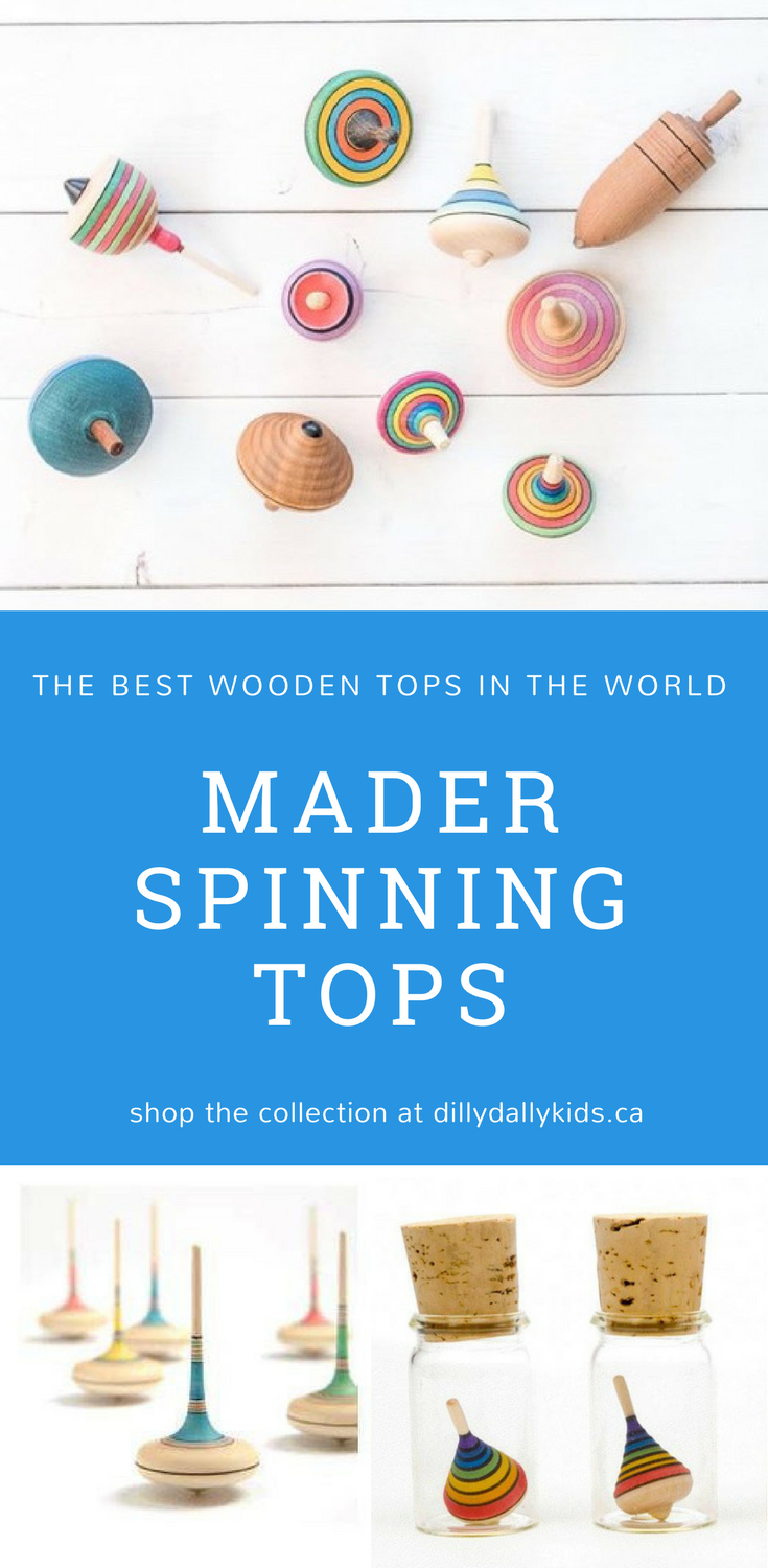 Mader Wooden Spinning Tops Dilly Dally Kids Makes The Best Collection Of