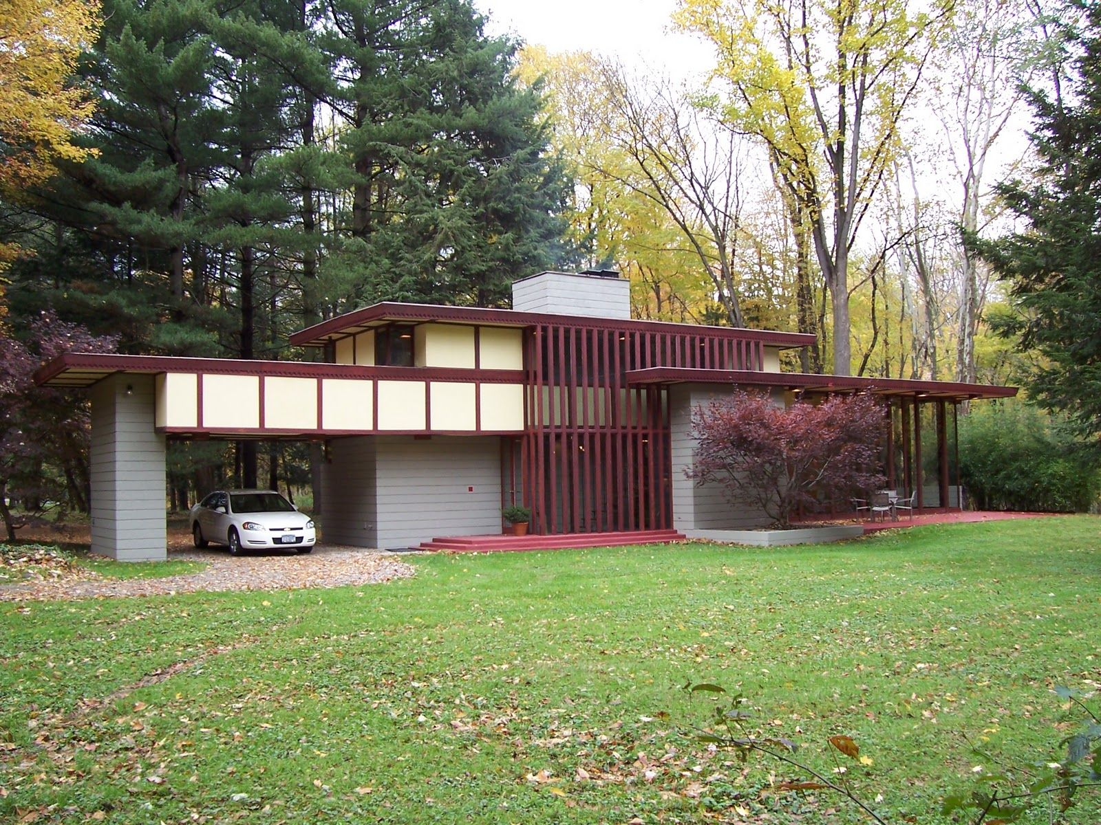 Louis penfield house 1955 willoughby hills cleveland for Usonian house plans for sale
