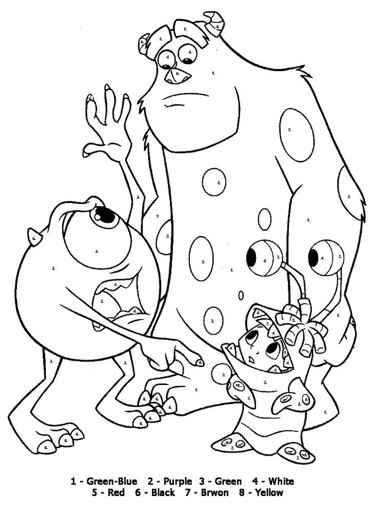 Color By Number Coloring Pages Disney Coloring Pages Cool Coloring Pages Coloring Pages