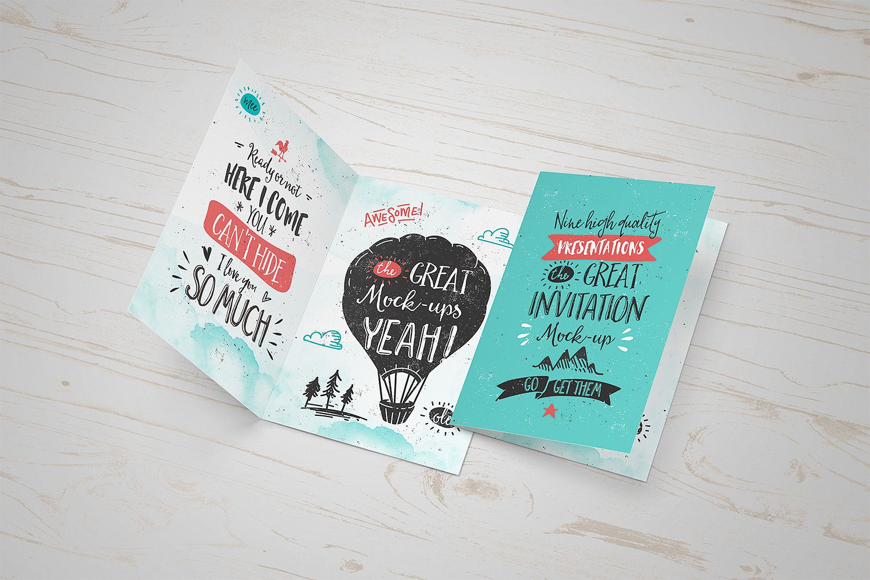 Invitation Greeting Card Mock  Inspiratie
