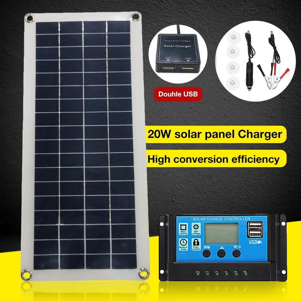 20w Multi Purpose Mobile Phone Charging Solar Board Portable Polycrystalline Flexible Solar P Di 2020