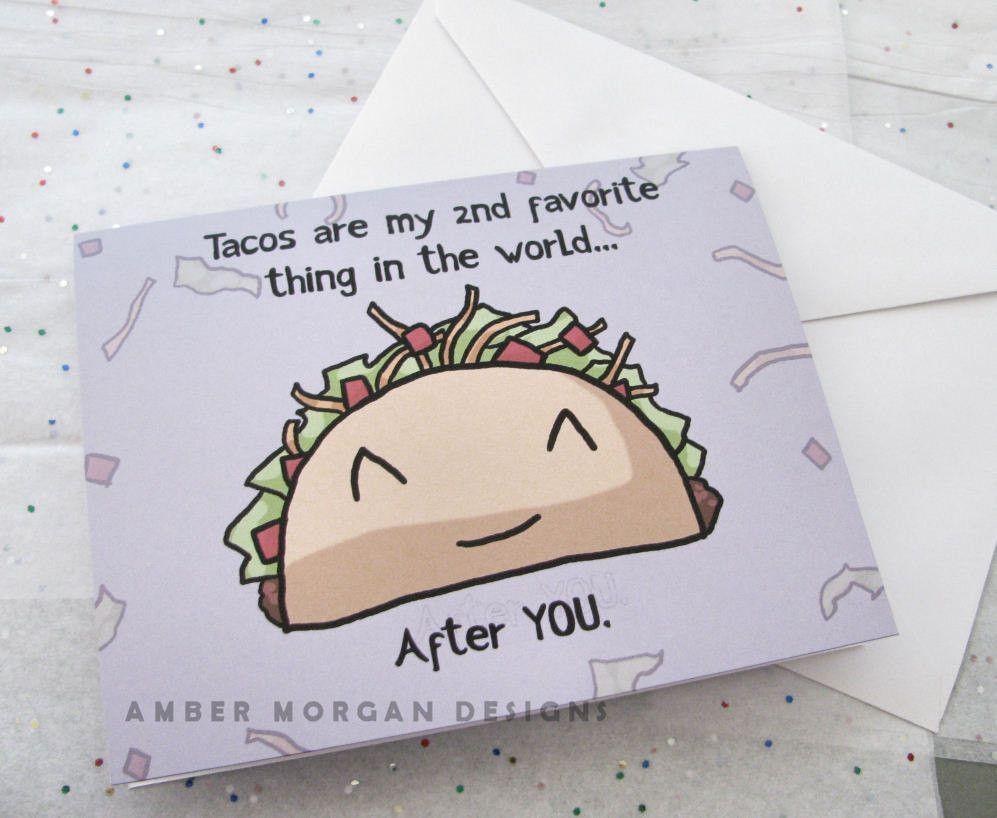 Taco love greeting card crafts pinterest romantic cards taco love greeting card m4hsunfo