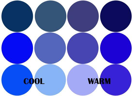 холодні і теплі віддінки синього Warm Undertone Blue Tones Cool Navy