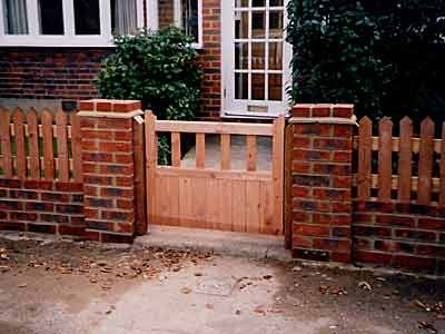 Marvelous Picket And Brick Fence   Google Search. Fence GateBrick FenceFront ...