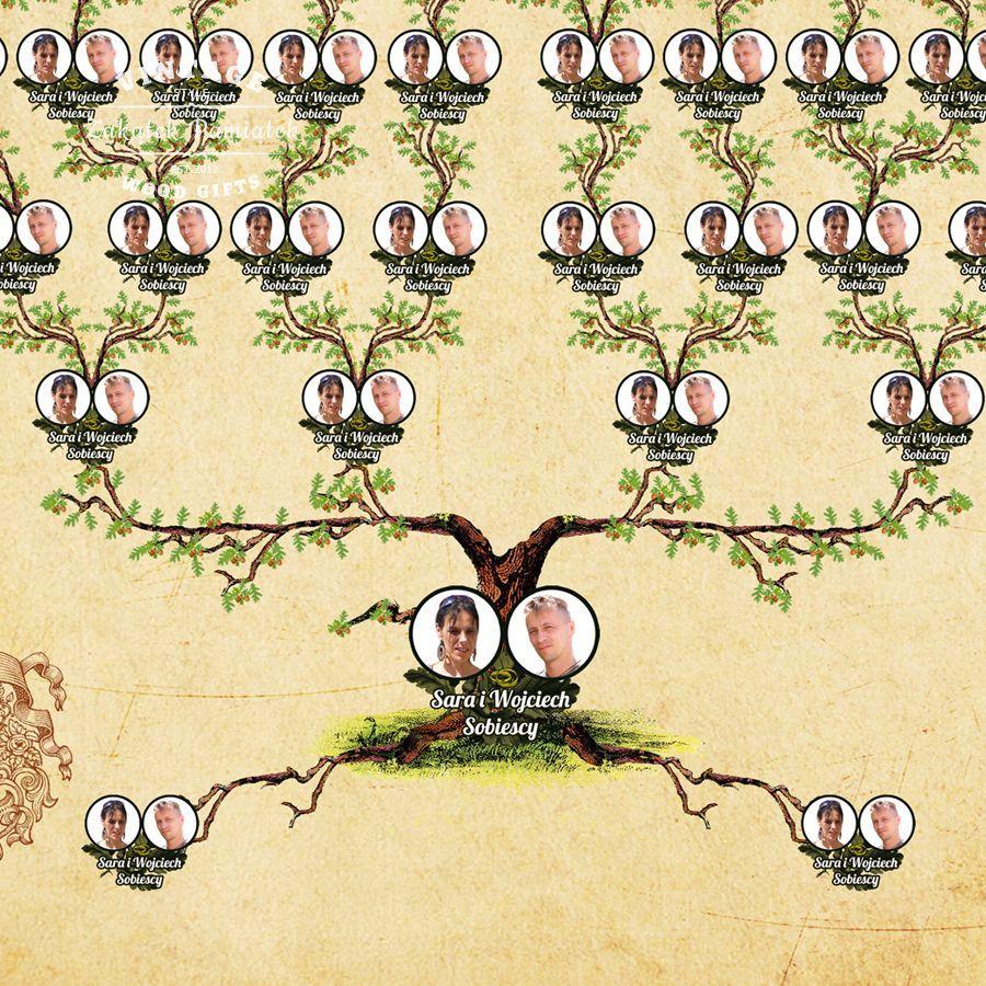 Drzewo Genealogiczne Korzenie Obraz Drukowany Na Plotnie With