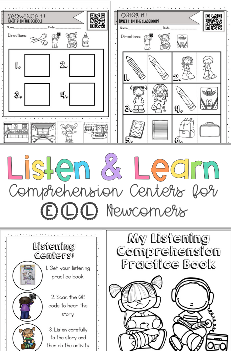 - Independent Listening Comprehension Activities For ELL Newcomers
