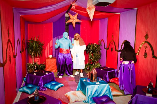39 party of the year 39 contest winner aladdin ali baba for Aladdin decoration ideas