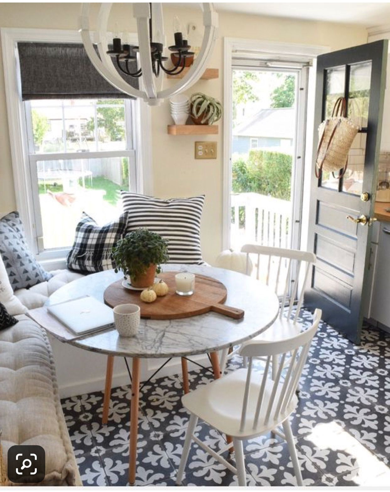 Painted Back Door Small Dining Room Decor Dining Room Budget