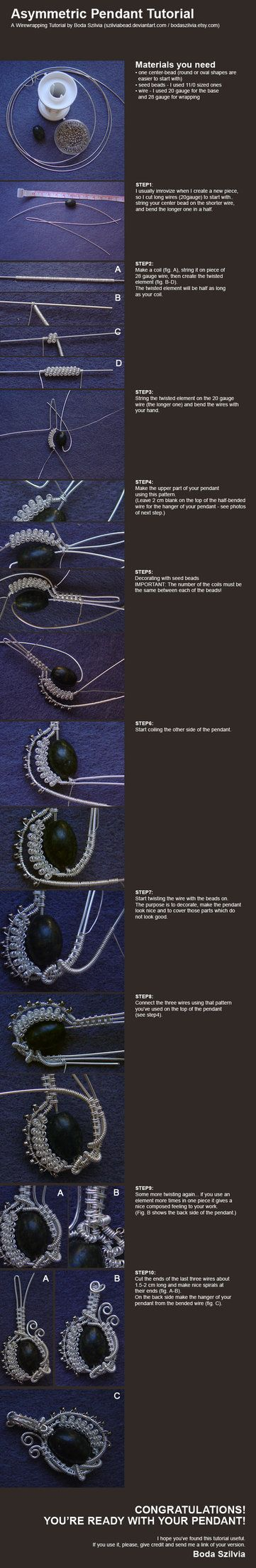 wirewrapped pendant tutorial by *bodaszilvia on deviantART