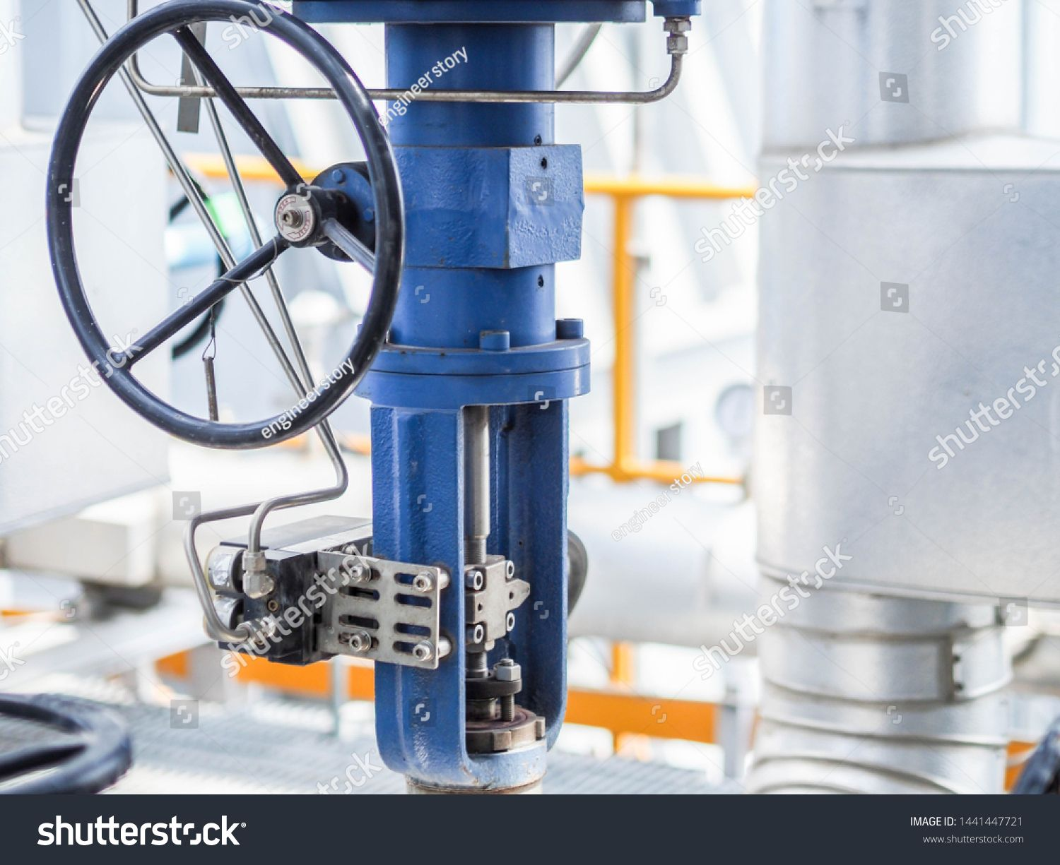 Control valve for control flow and pressure of process