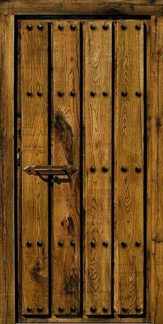 Puertas rusticas de madera con herrajes buscar con - Pergolas rusticas de madera ...