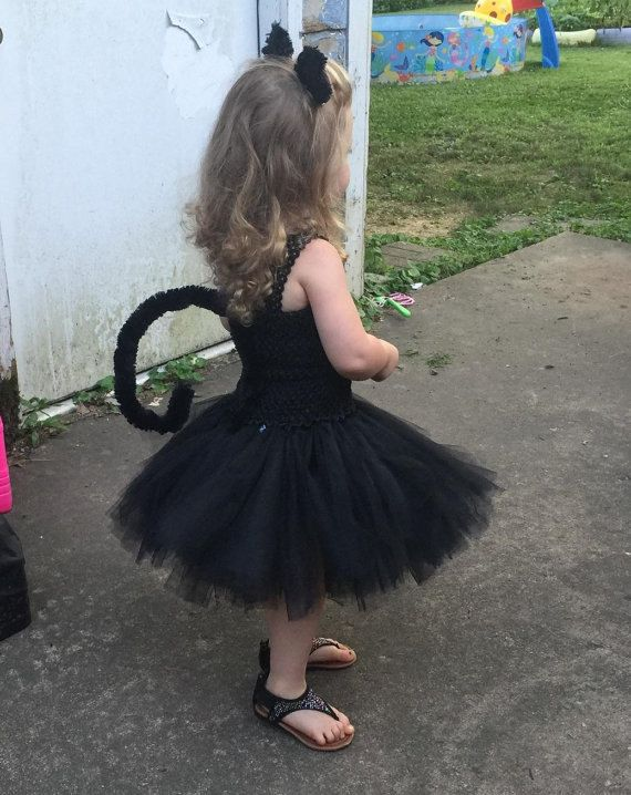 Black Cat Tail And Ears Toddler Sized By Chachatutu On