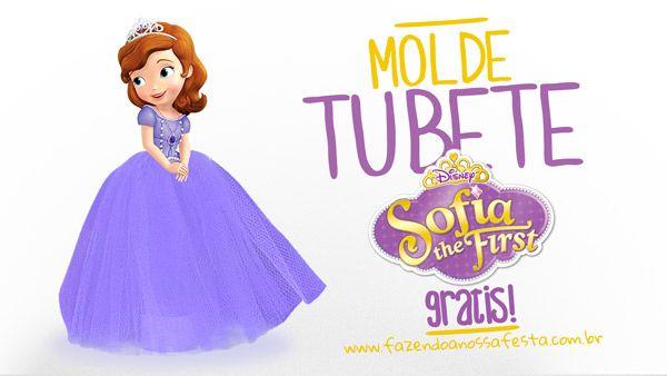 Molde Tubete Princesa Sofia - Pronto para Imprimir | Sofia ...