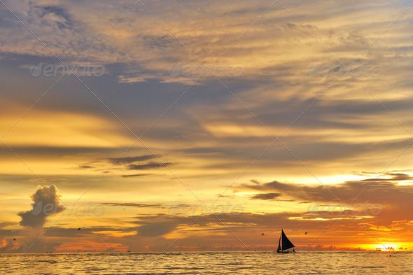 Beautiful sunset by haveseen. Beautiful sunset at Boracay, Philippines #AD #sunset, #Beautiful, #haveseen, #Philippines