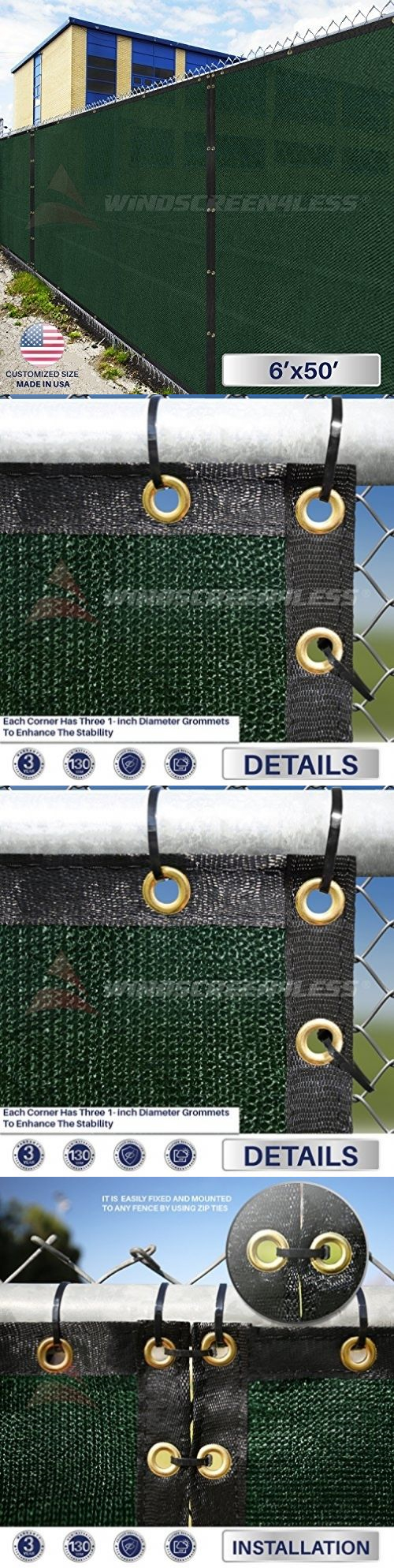 Privacy screen for chain link fence ebay - Privacy Screens Windscreens 180991 Chain Link Fence Privacy Screen 6x50 Heavy Duty Fabric Outdoor Panel