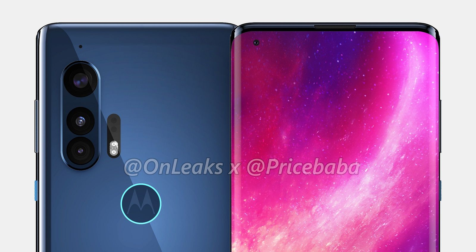Motorola Edge Plus renders reveal premium 'waterfall' display and triple cameras