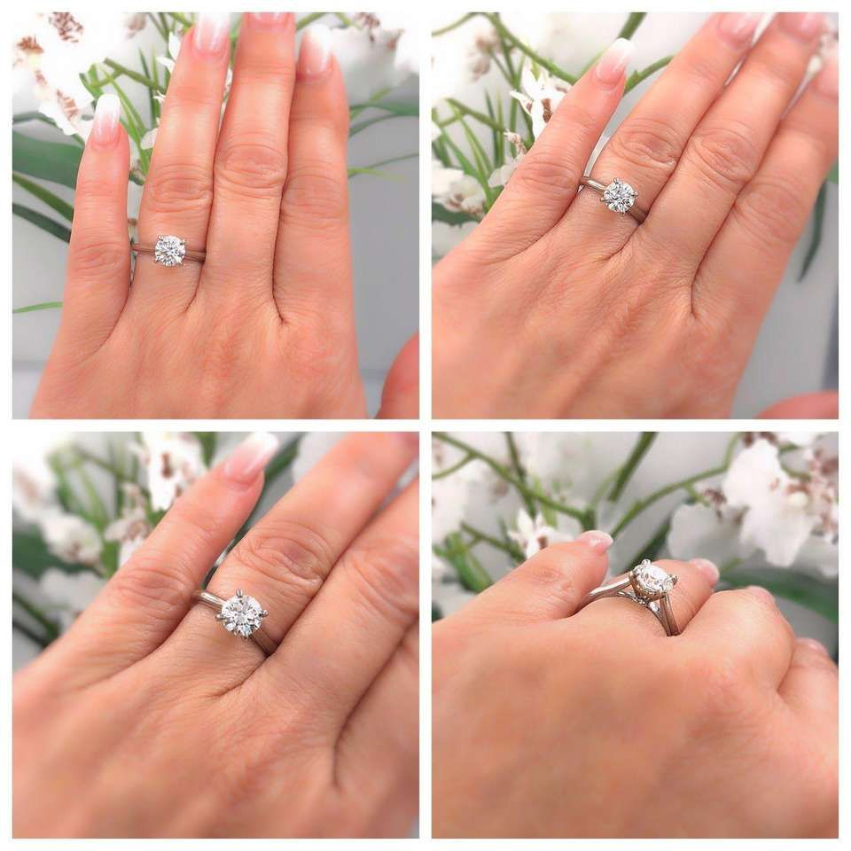 2e89b41f238ee Cartier Platinum Diamond Engagement Ring Round 1.19 Carat G VVS1 ...