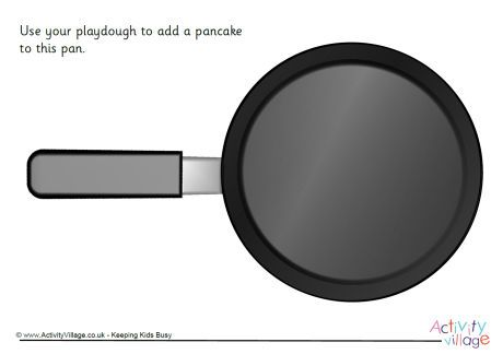 Pancake playdough mat. Click through to the website for the printable.