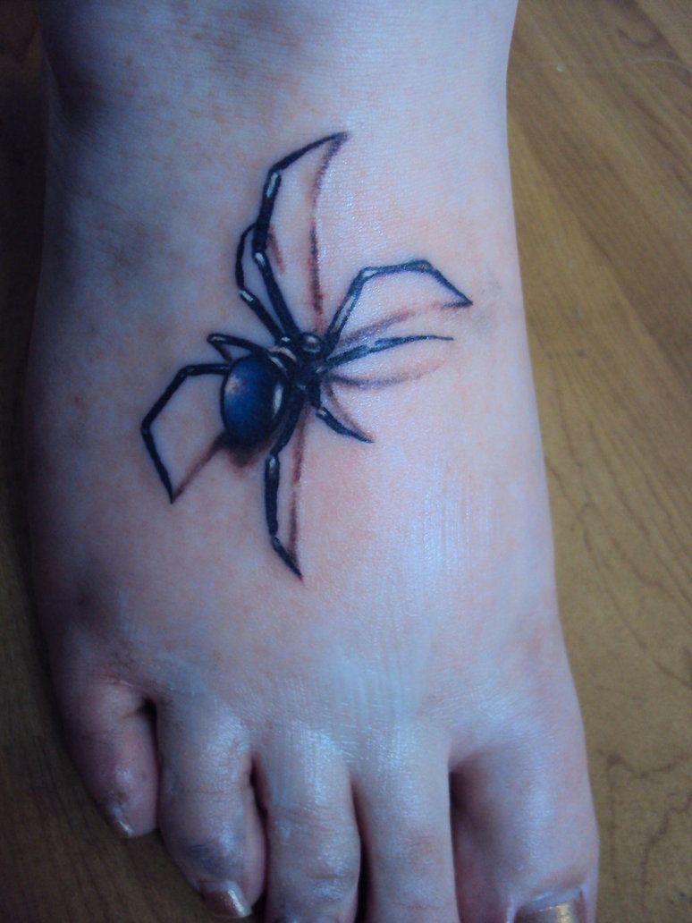 Realistic Spider Tattoo Spider Tattoo 3d Tattoos Tattoo Designs