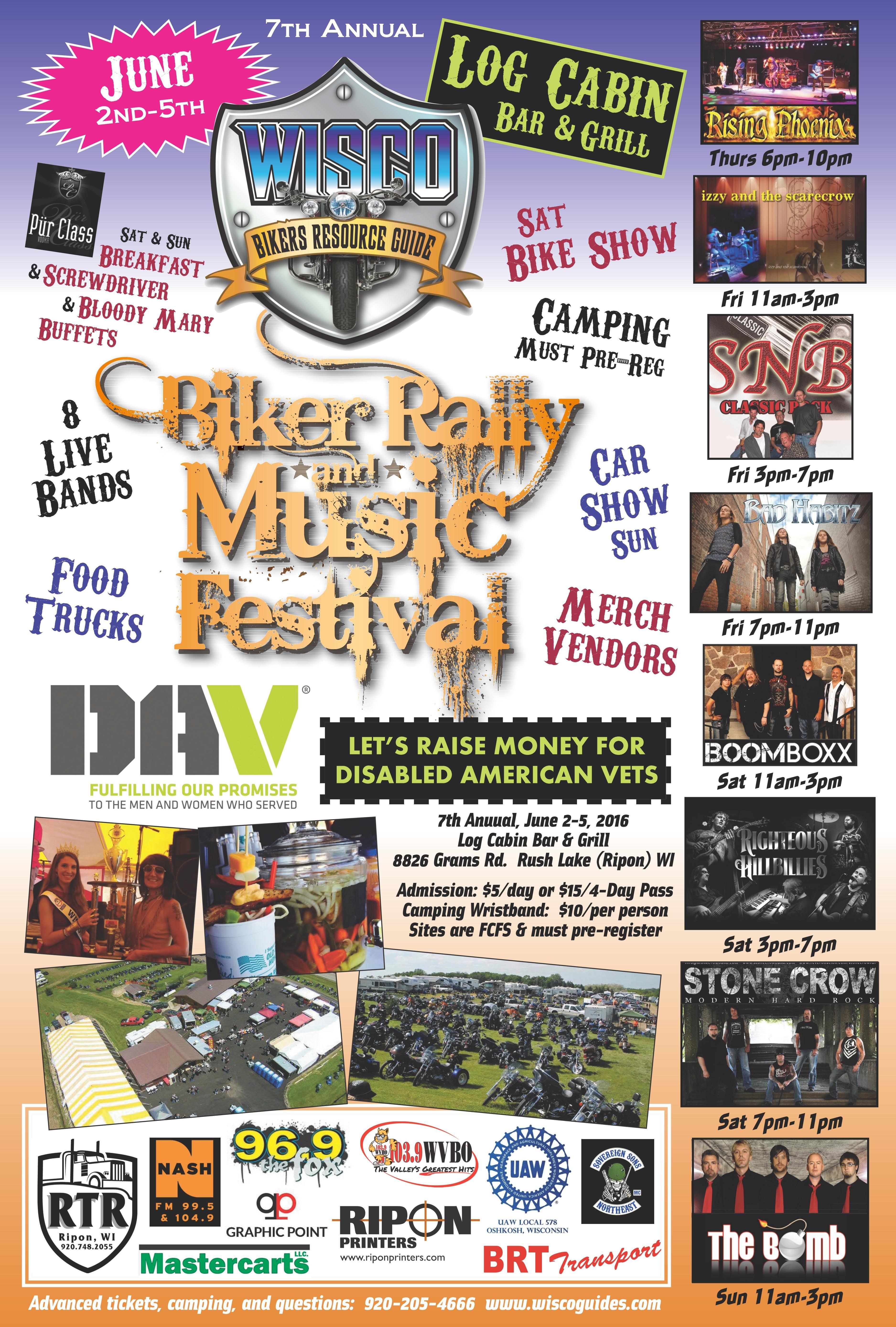 WISCO 7th Annual Biker Rally & Music Festival June 2nd5th