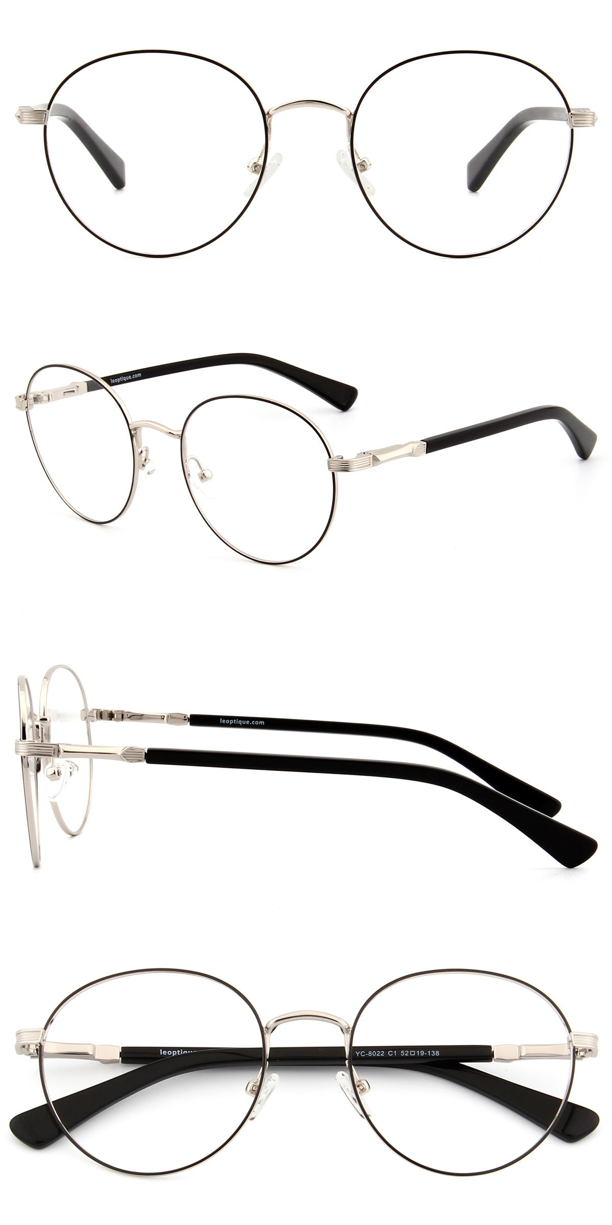 Yc 8022 Silver And Black Oculos Estilosos