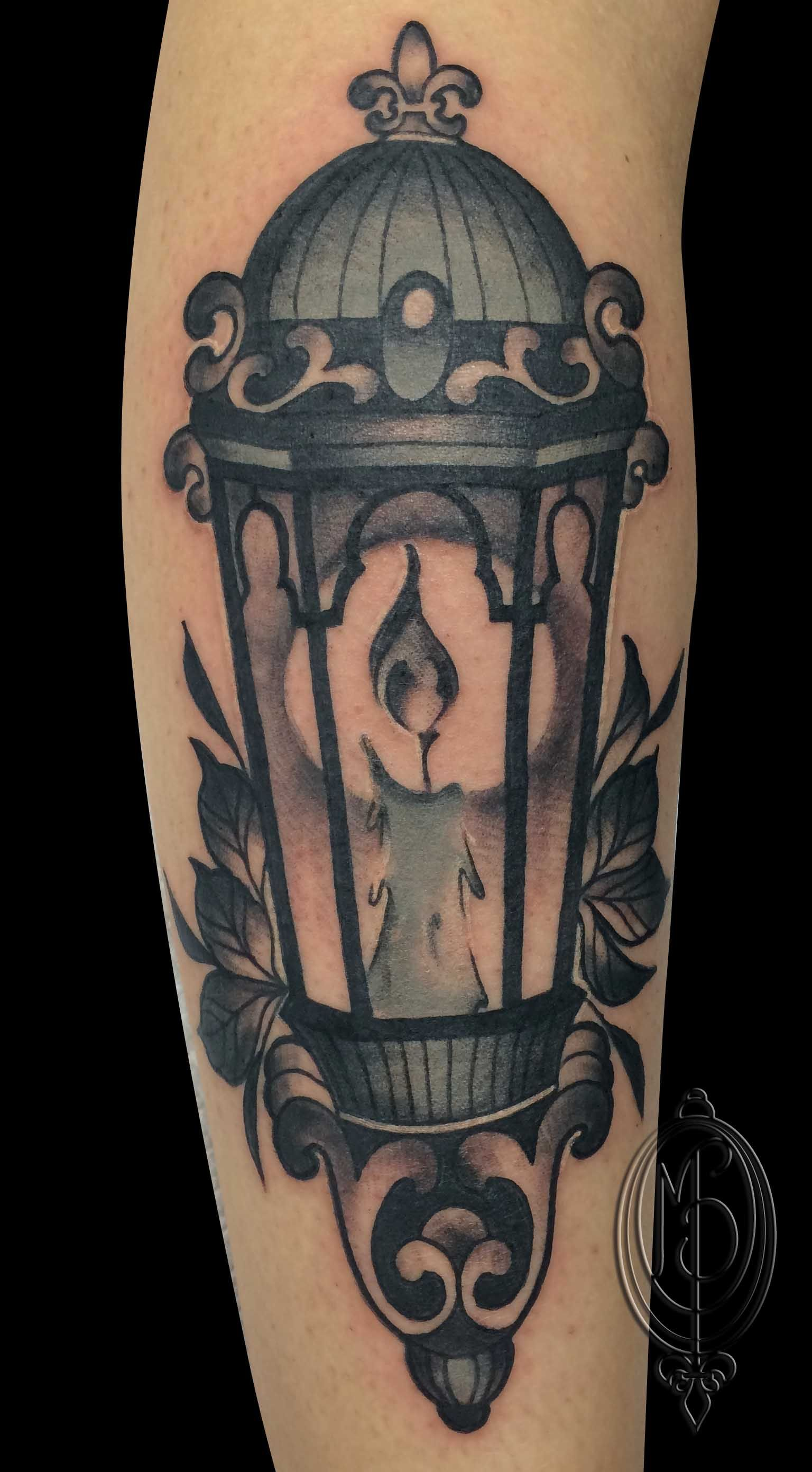 Old Lantern Tattoo By Monique Peres Moniqueladyinkgmail
