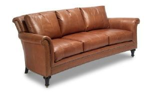 Ferguson Copeland Ltd Surrey Sofa Leather Item L 9927 3 Nailhead Trim Standard Semi Attached Back Dimensions 89w 44d 35 5h