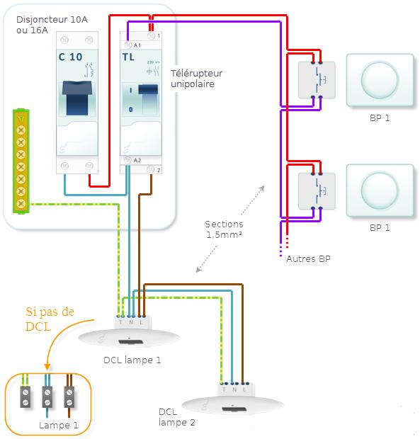 UnipolaireSchemas Telerupteur Un Electriques Comment Brancher QstCxhrd