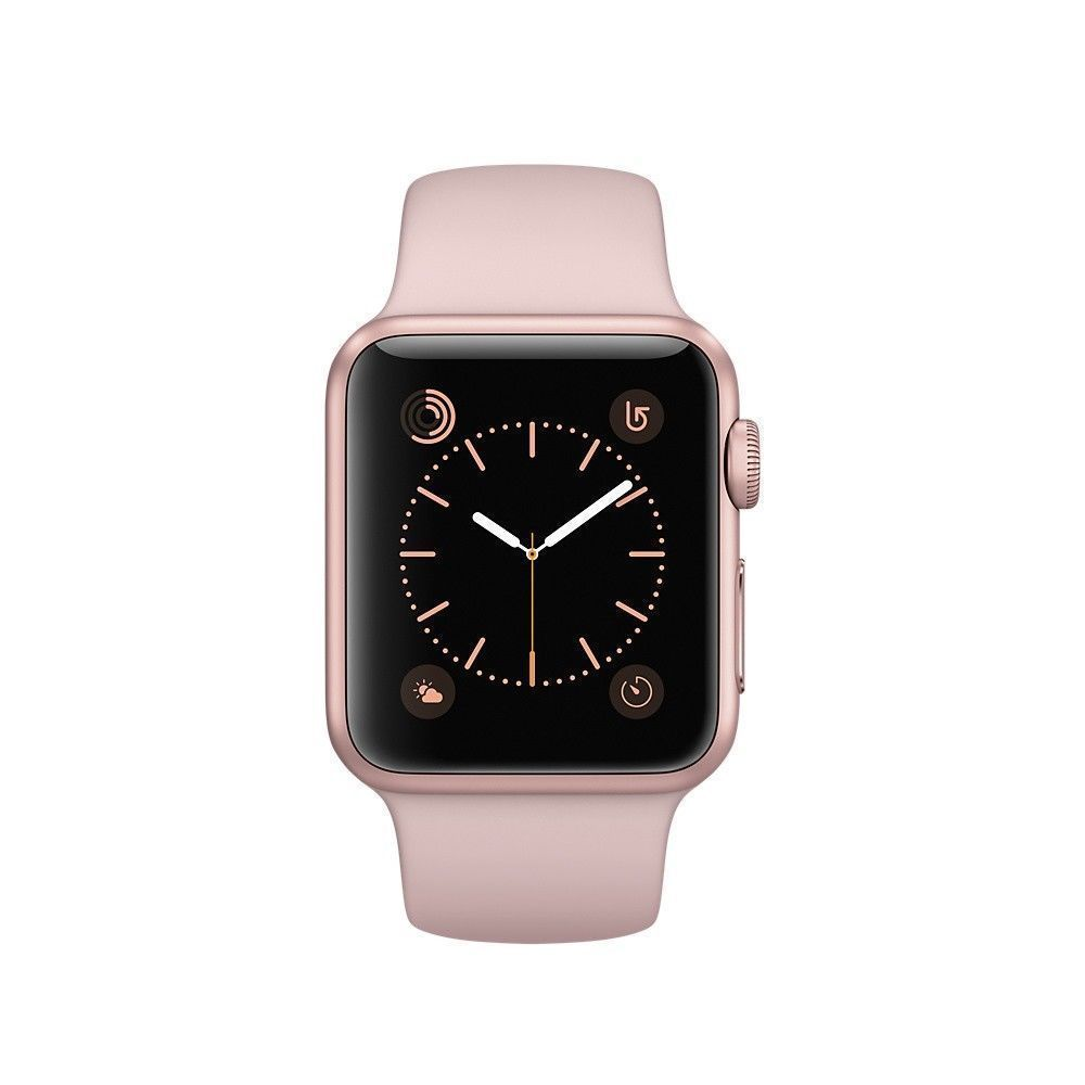 New In Box Apple Watch Series 3 38mm Gold Aluminum Case Pink Sand Sports Band Http Myalphastore Com Pro Apple Watch Apple Watch Sport 38mm Apple Watch Sport