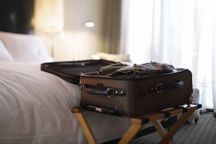 Stell' deinen Koffer im Hotel bloß nicht auf den Boden!