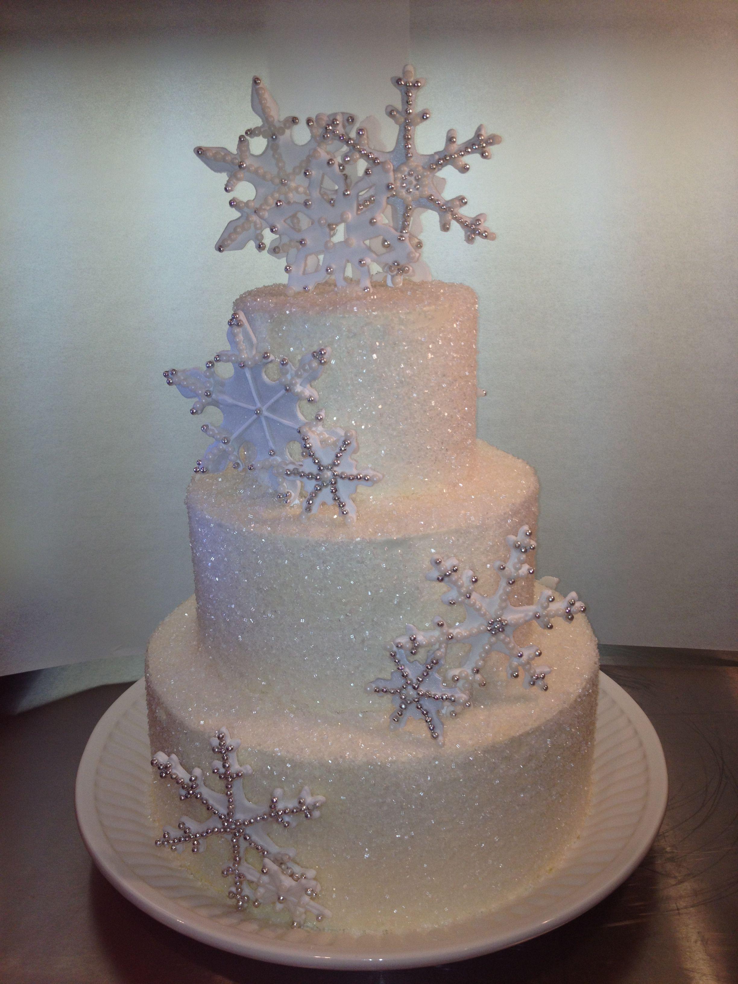 Excellent Snowflake Sweet 16 Cake Winter Wonderland Cake Winter Personalised Birthday Cards Beptaeletsinfo