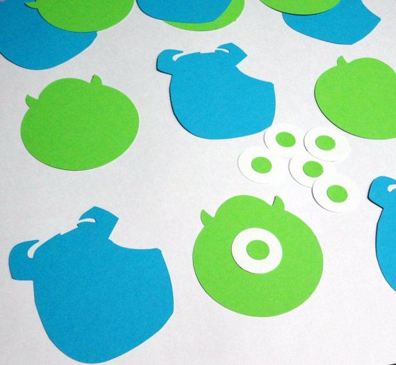 12 Mike Wazowski And Sulley Monsters Inc Silhouettes Cutouts Die Cut