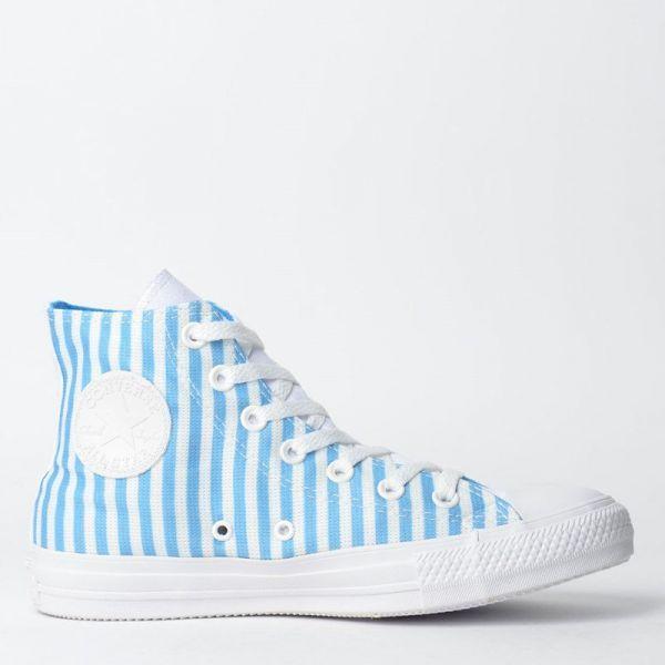 71b18c8e4a Tenis Converse Chuck Taylor All Star Hi Branco Azul Celeste - descricao  Linha  Chuck Taylor