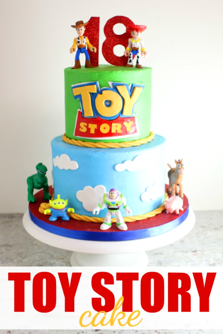 Fabulous Toy Story Cake For Olivias 18Th Birthday With Images Toy Story Funny Birthday Cards Online Elaedamsfinfo