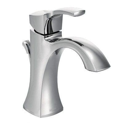 Voss Chrome one-handle high arc bathroom faucet -- 6903 -- Moen