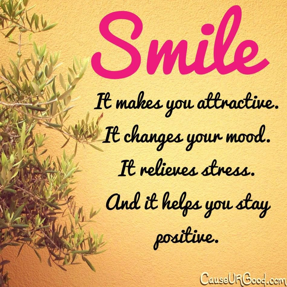 Nice Quotes On Beautiful Smile: Smile..it Makes You Attractive. It Changes Your Mood. It