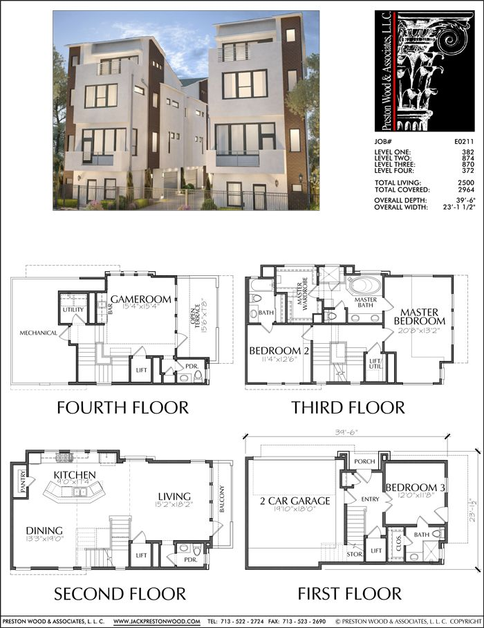 Townhouse Plan E0211 Set up lower level as separate
